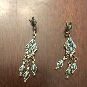 Vintage Turquoise and Silver earrings